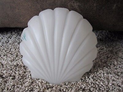 Antique? Clamshell Satin Glass Light Fixture Shade Wall Sconce Frosted Globe