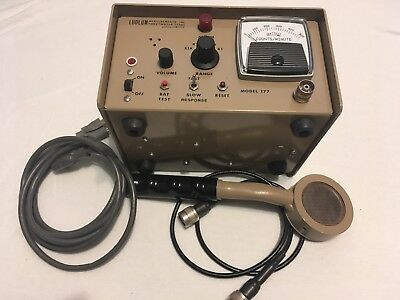 """Ludlum Model 177 Alarming Ratemeter With GM """"Pancake"""" Probe And Cable"""