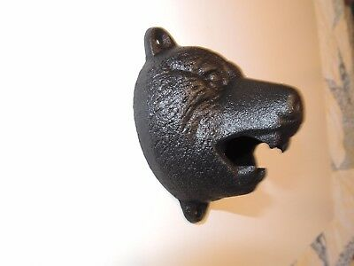 Grizzly Bear Cast Iron Wall Mounted Beer Bottle Opener