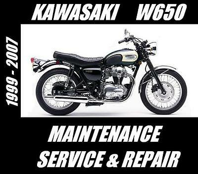 HIGH DEFINITION 1999-2006 Kawasaki W650 EJ650  Repair /& Maintenance Manual