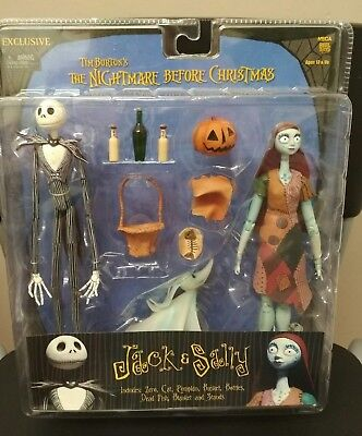 The Nightmare Before Christmas RARE NECA toy UK Sally, Jack and Zero