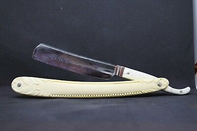 W.R. Case and sons, Vintage straight razor, covered tang fancy scales, shave rea