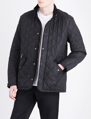 Barbour Men's Chelsea Sportquilt Jacket Black - SMALL