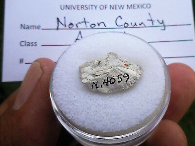 UNM Provenance 1.98 gram NORTON COUNTY Aubrite Meteorite 1948 Kansas, USA Fall