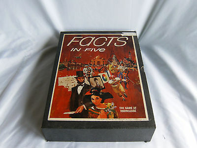 """Vintage 1967 3M Bookshelf Game """"Facts in Five"""" The Game of Knowledge - Unused!"""