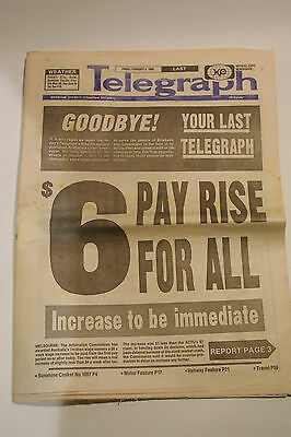 LAST EVER EDITION Telegraph Brisbane's Oldest Newspaper 1872-1988 - Feb 5th 1988