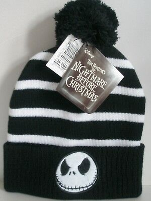 Disneys A Nightmare before Christmas Bobble Hat-New With Tags Unisex Winter Wear