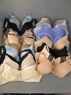 Bulk Lot of 37 Pre-owned Bras Everyday Fine Quality UW Wirefree