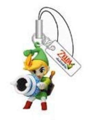 "Yujin The Legend of Zelda Mascot Figure Set *RARE* ~1.5"""" - Link with Gust Jar"