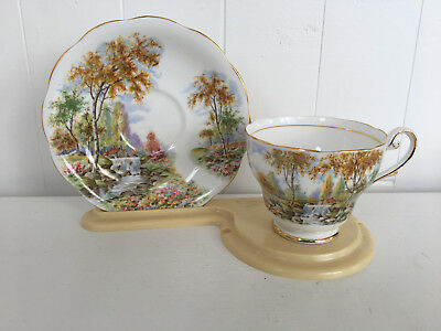 Royal Standard 'The Old Mill Stream' Teacup with Saucer - Country Scene (262)