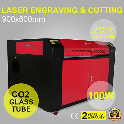 100W Co2 Laser Engraving Engraver Machine Water Cooling 900X600Mm Usb Disk