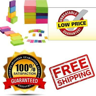 Post It Super Sticky Notes 12 Pads - 100 Sheets/Pad Multicolor Total 1200 - New