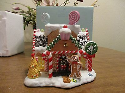 Partylite The Gingerbread Cottage #p7901 New