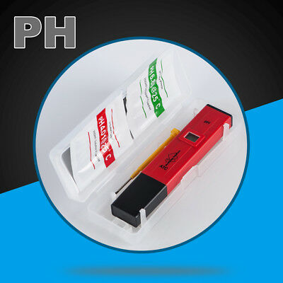 Digital PH Meter Water Hydroponics Pocket Pen Tester Aquarium Pond Pool Test LCD