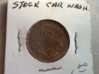 Vintage CAR WASH TOKEN w. MODEL A FORD car/vehicle Fun collectible COIN!