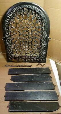 Antique Cast Iron Arch Top Decorative Dome Heat Grate Wall Register 9x12 PARTS