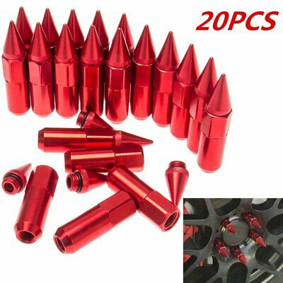20PCS Aluminum M12X1.25 JDM 60mm Extended Tuner Wheels Rims Lug Nuts with Spike