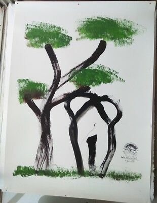 Painting by Thai Elephant Art 100% Authentic Home Wall Decor Original DHL Expres