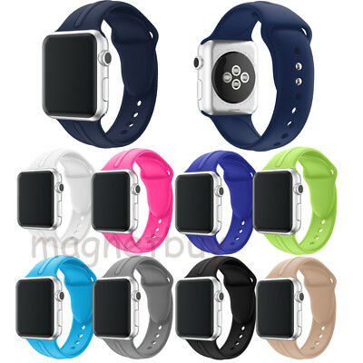 Fitness Silicone Wrist Bracelet iWatch Strap For  Apple Watch Band Series 2&1