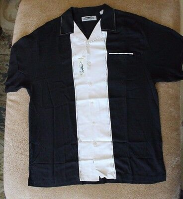 Patron Tequila Short Sleeve Button Up Bowling SILK Shirt Men's Size SMALL NWT