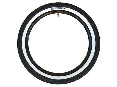 2x (PAIR) Mirraco Vise BMX Tyres with Fitted Tube - 20 x 2.3 Black / Whitewall