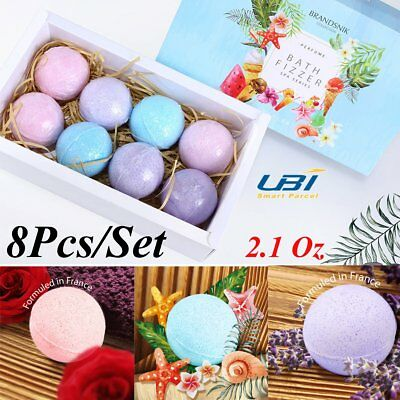 8Pcs Bath Bombs Gift Box Christmas Gift Set Bath Salts Lush Bath Bombs Fizzies