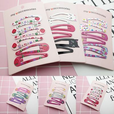 """6PCS 2"""" Hair Clips Snaps Hairpin Girls Baby Kids Hair Bow Accessories Kids Gift"""