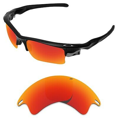 54b800ad30 Tintart Replacement Lenses for-Oakley Fast Jacket XL Sunglasses Fire Red  (STD)