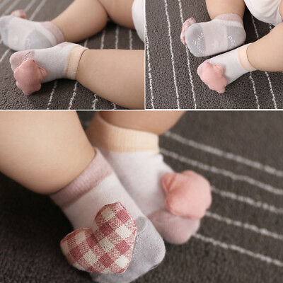 Unisex 0-12 Months Infants Baby Cotton Socks 2 Pairs NEW