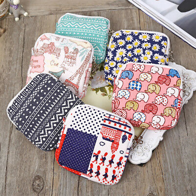 1Pcs Sanitary Pad Purse Cosmetic Pouch Napkin Towel Storage Bags