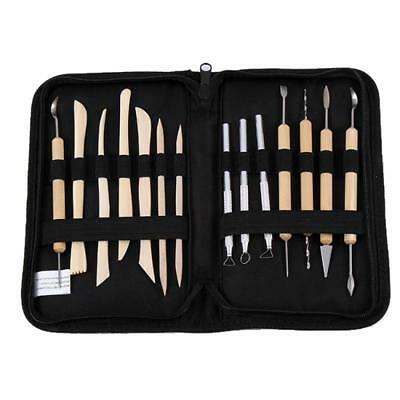 14Pcs Clay Sculpting Wax Carving Pottery Tools Polymer Ceramic Modeling Kit