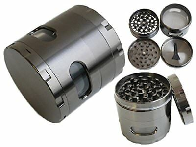 4 Piece Heavy Duty Tobacco Grinder Aluminum Herb/Spice Herbal Smoke Crusher