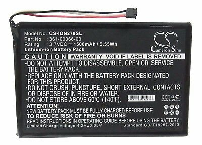 361-00066-00 3.7V 1500mAh Li-ion Battery for Garmin Nuvi 2757 2757LM 2797