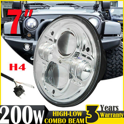 PAIR 7INCH H4 100W CREE LED Driving Light Headlight Hi-Low Beam For Suzuki Jimmy