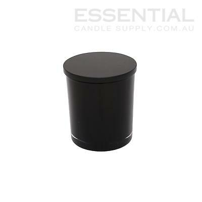 Glass Candle Jar with Lid 200ml Black x1