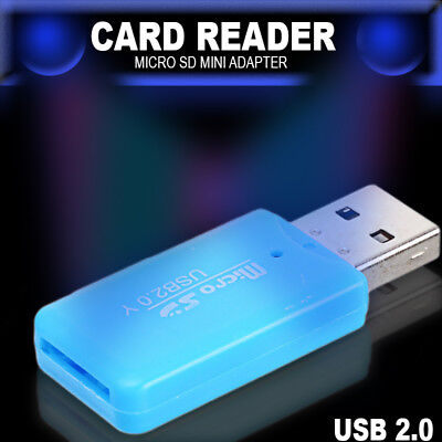 USB 2.0 Micro SD SDHC Mini Memory Card Adapter Card Reader Writer for Computer