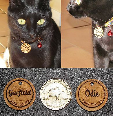 Personalised Bamboo Cat Tag