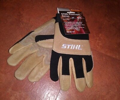 1 PAIR OF Stihl Proscaper Series Gloves SIZE LARGE NWT FREE SHIPPING