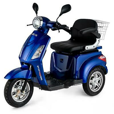 Scooter electrico Movilidad Mayores Triciclo Minusvalido E-Scooter 25km/h AZUL