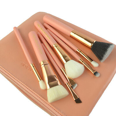 8PCS Natural animal Real Hair Makeup Brush Set/Kit with PU Pouch Beauty Brushes