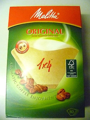 18 Packs Of Genuine Melitta 1 X 4 80 Brown Aromapor Coffee Filters  Mel6563363