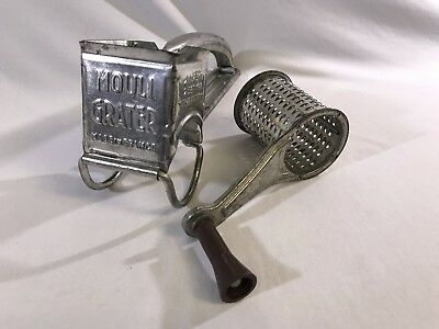 Vintage Mouli Grater Tin Made In France For Cheese Herbs Spices Etc