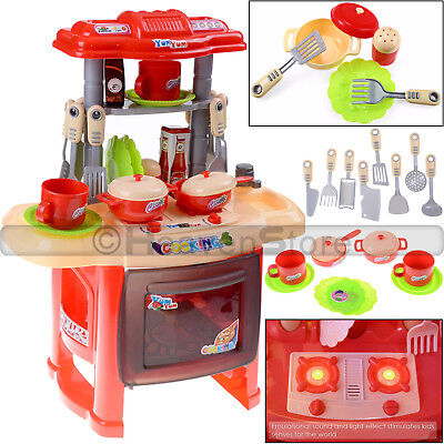 Kids Portable Electronic Childrens Kids Kitchen Cooking Boy Toys Cooker Play Set