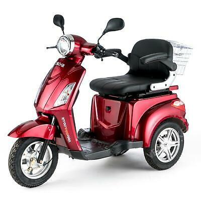Eléctrico Scooters Movilidad Mayores Triciclo Minusvalido E-Scooter 25km/h ROJO