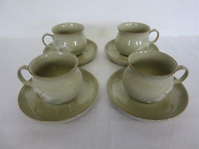 Denby 'Daybreak' pattern stoneware - Four cups & saucers