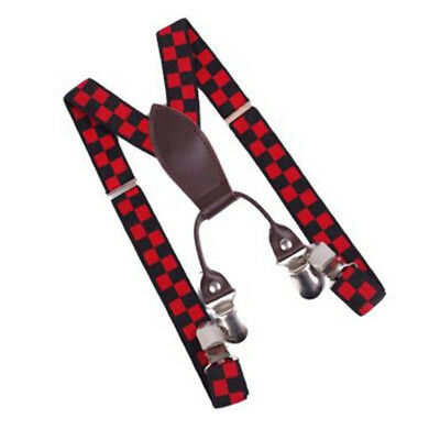 5X(Elastic Y-Shape Children Kids Suspender Braces Straps With 4 Clips)