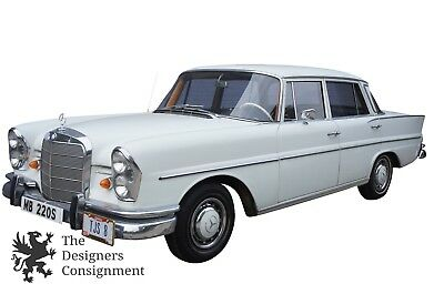 1965 Mercedes 220S W111 White Sedan Blue Leather Interior 200 Series
