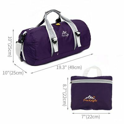 Large Foldable Travel Duffle Bag Waterproof Sports Gym Bags w Shoulder Strap