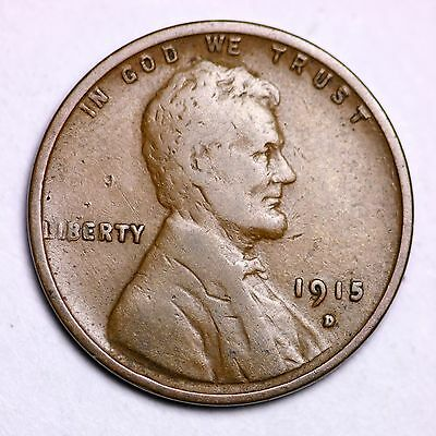 1915-D Lincoln Wheat Cent Penny LOWEST PRICES ON THE BAY!  FREE SHIPPING!