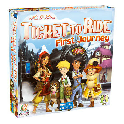 Ticket To Ride First Journey Europe Board Game NEW